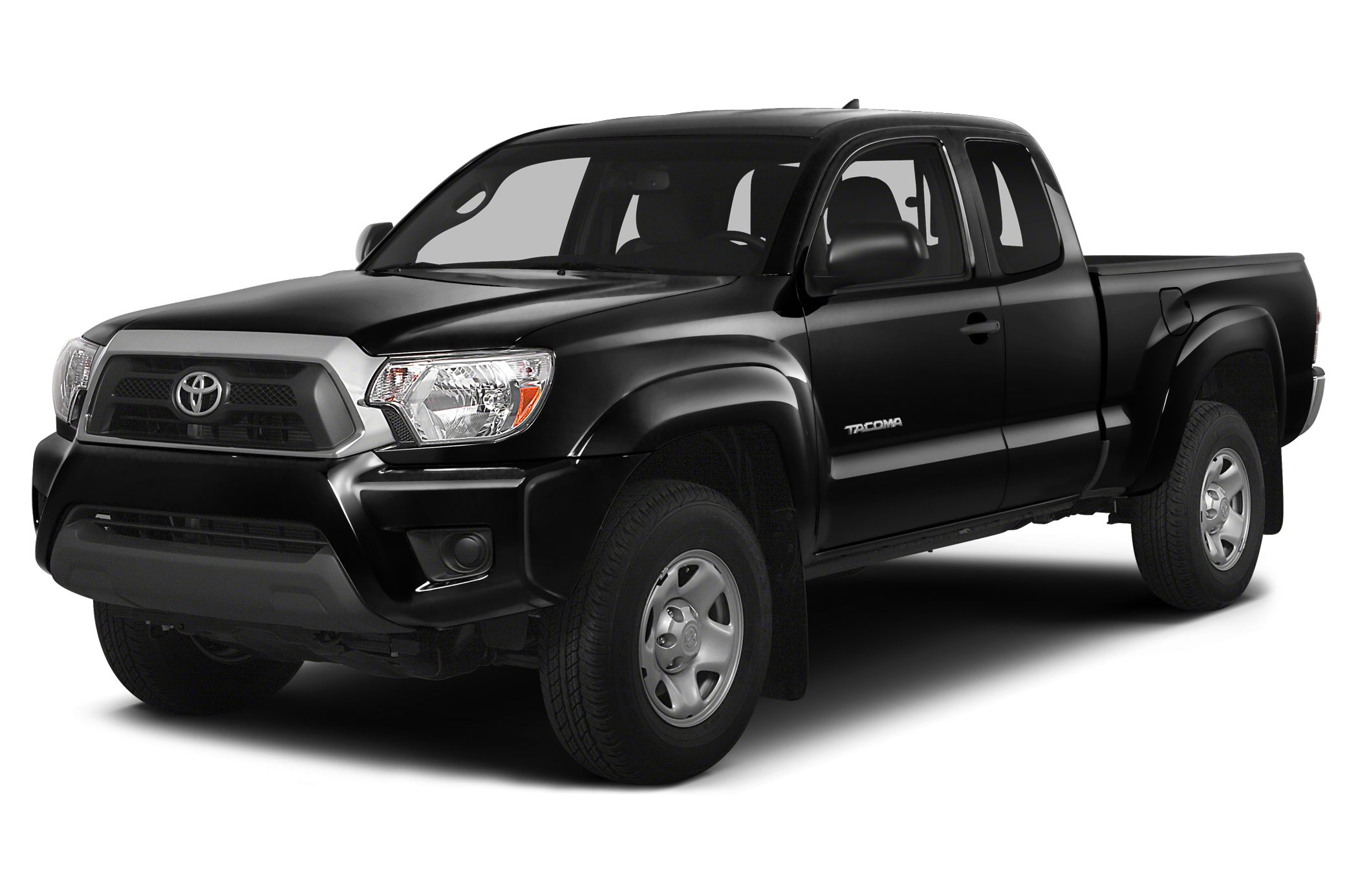 2015 Toyota Tacoma  4D Access Cab 27L I4 DOHC 16V 4-Speed Automatic RWD Super White and Grap