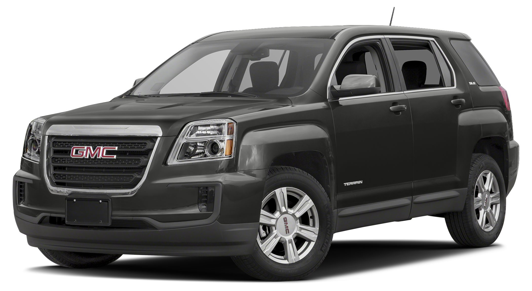 2016 GMC Terrain SLE-1 IRIDIUM METALLIC exterior and JET BLACK interior SLE trim FUEL EFFICIENT