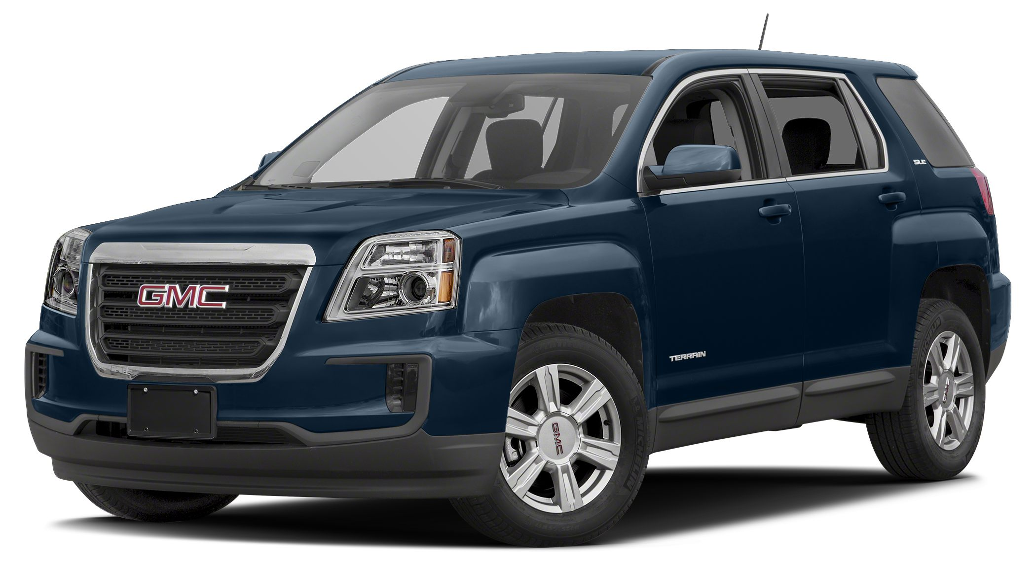 2016 GMC Terrain SLE-1 SLATE BLUE METALLIC exterior and LIGHT TITANIUM interior SLE trim Back-Up