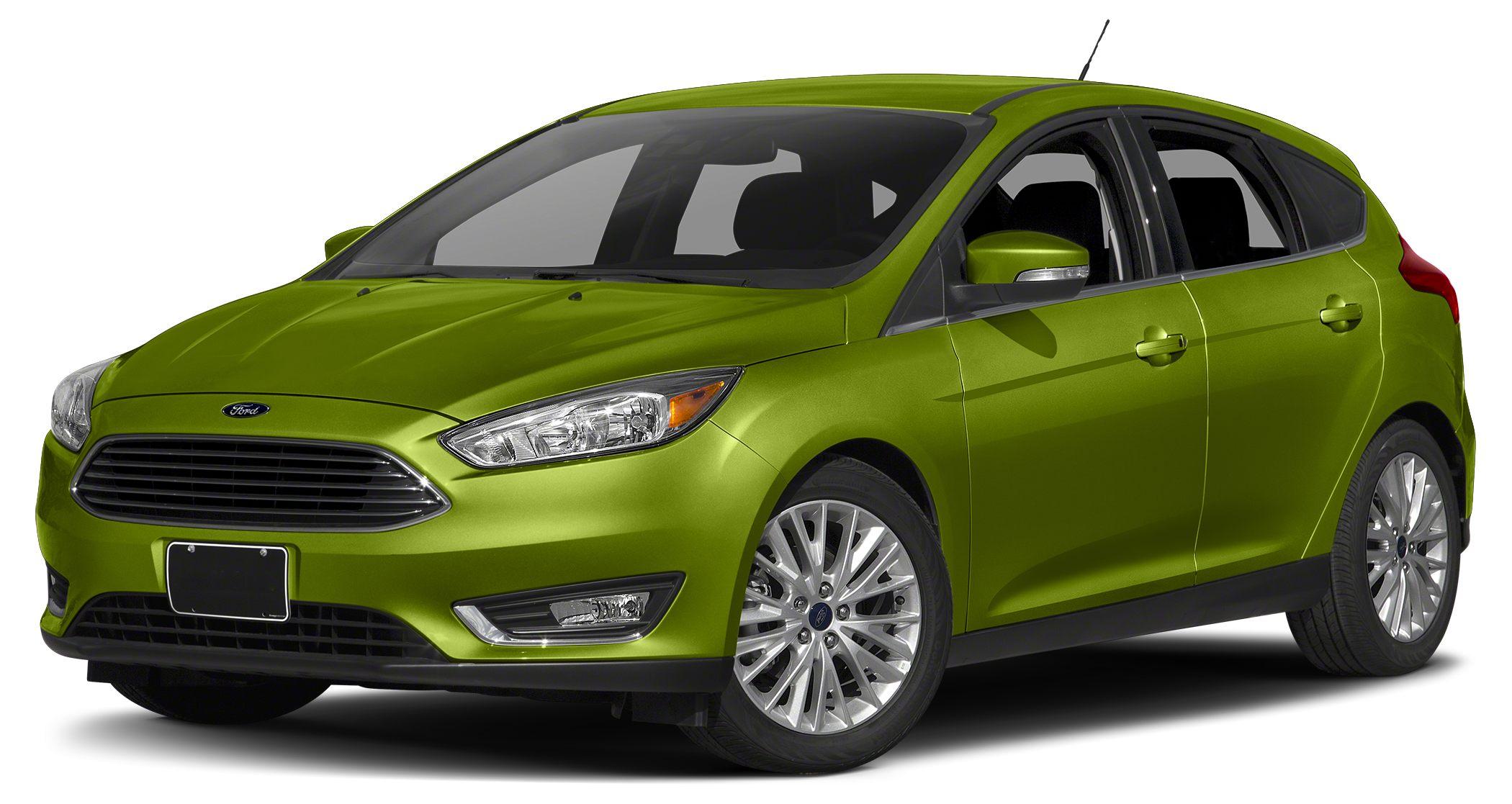 2016 Ford Focus Titanium 18 Premium Painted Aluminum Wheels Power Moonroof and Voice-Activated N