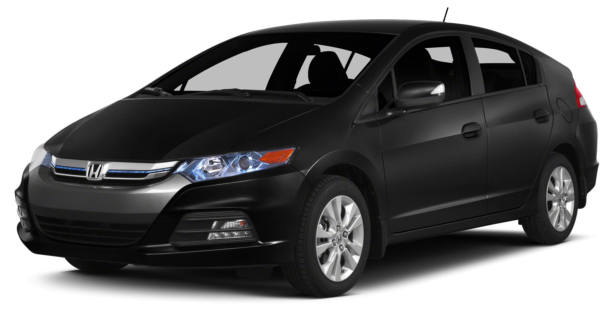 2014 Honda Insight LX CARFAX 1-Owner ONLY 21206 Miles Crystal Black Pearl exterior and Gray int