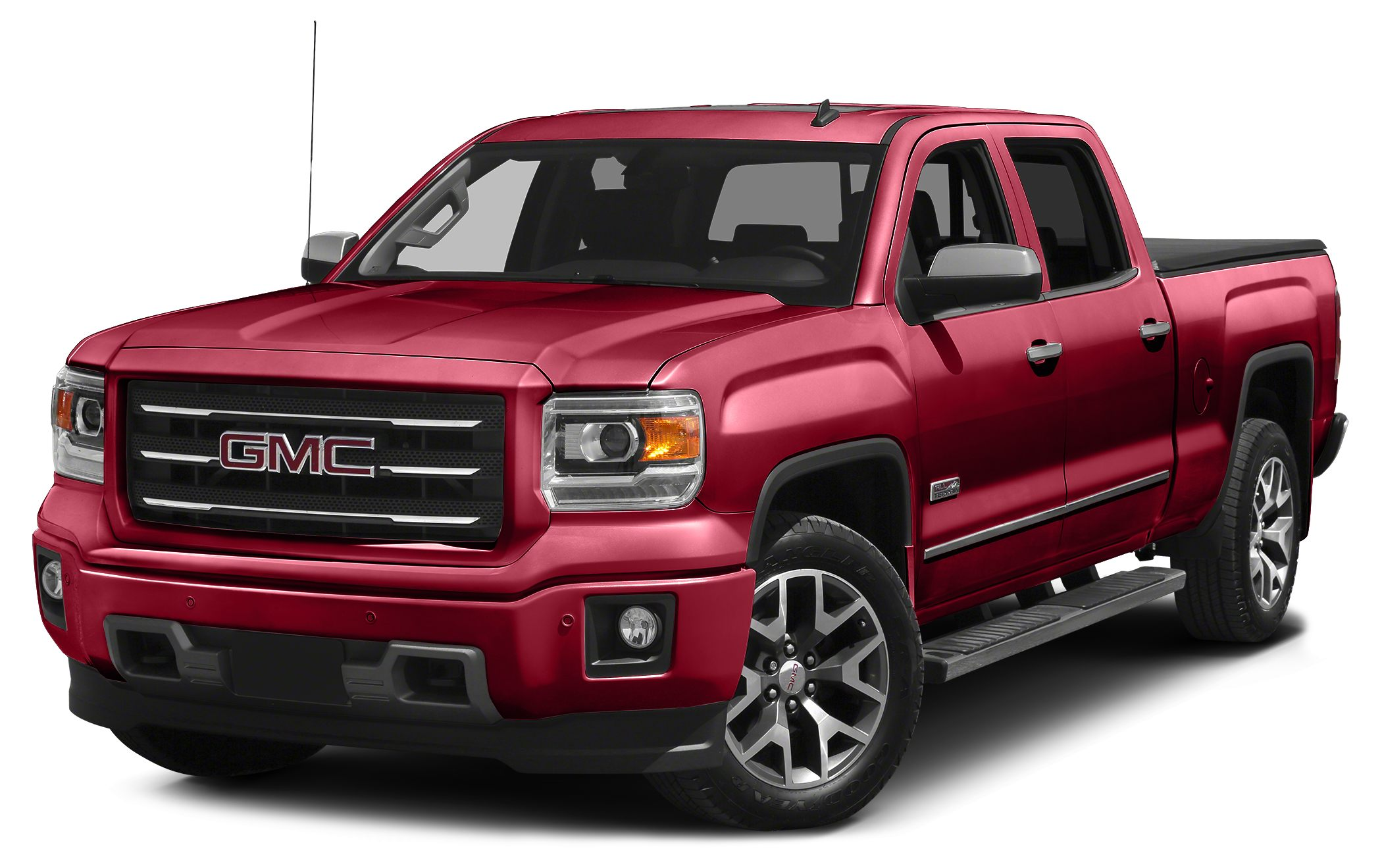 2015 GMC Sierra 1500 SLE The GMC Sierra 1500 possesses chiseled features and distinct lines that n