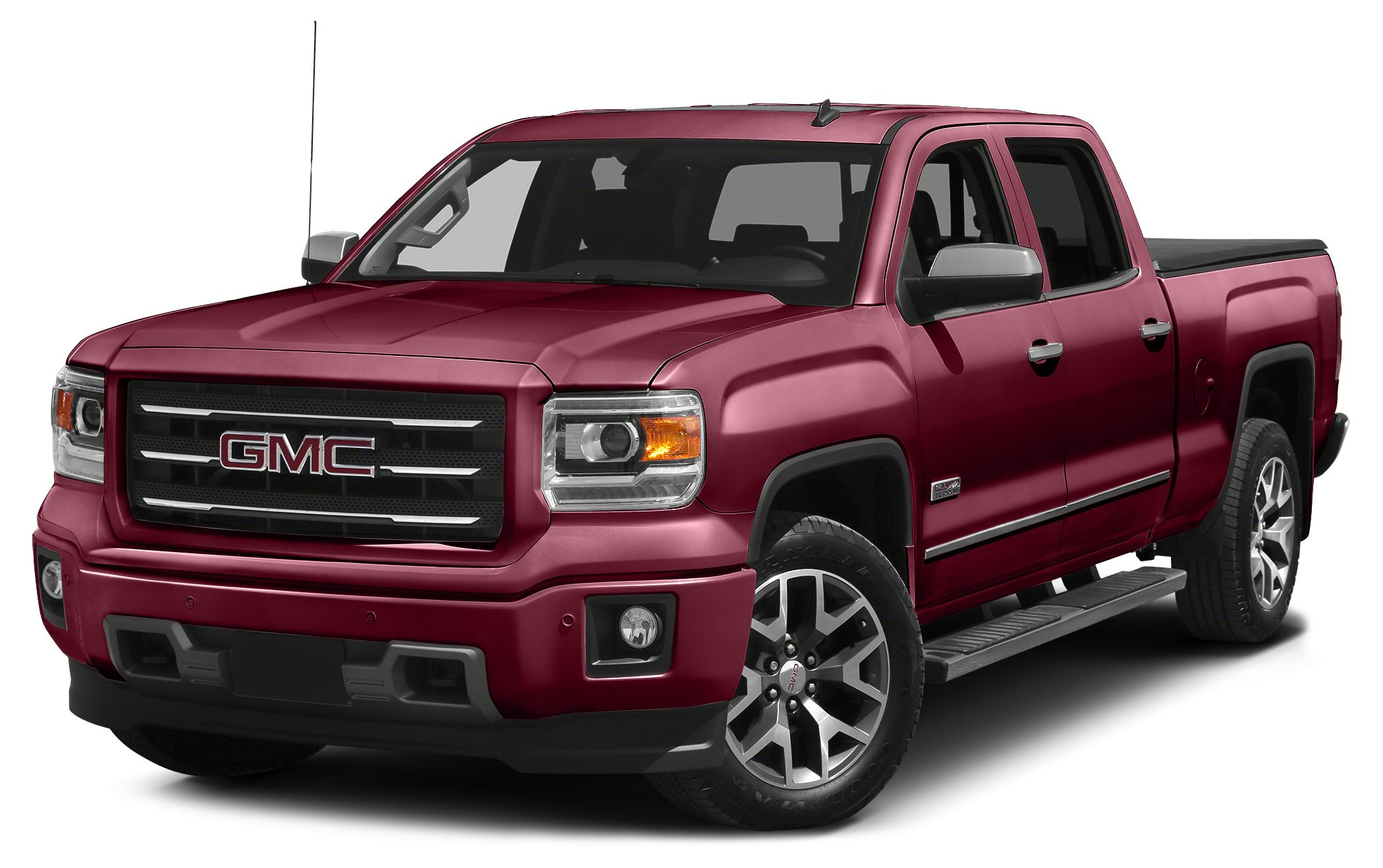 2015 GMC Sierra 1500 SLT 6-Speed Automatic Electronic with Overdrive Jet Black Leather 342 Rear