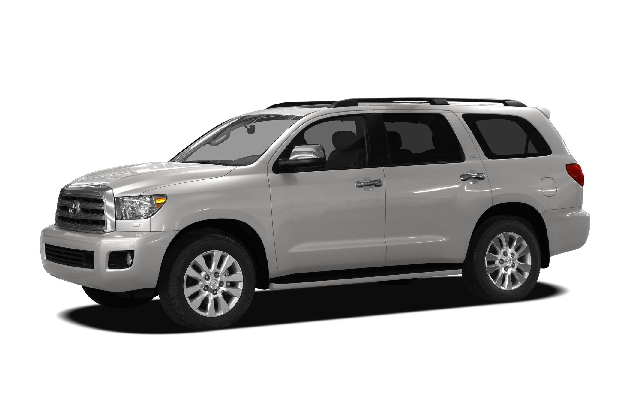 2010 Toyota Sequoia Platinum Miles 167476Color White Stock G80068A VIN 5TDDW5G14AS038437