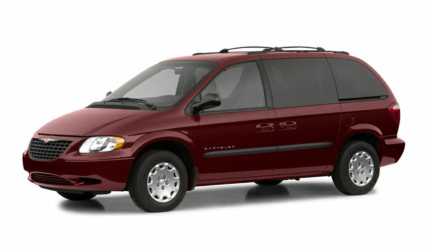2002 Chrysler Voyager Base Miles 90276Color Red Stock N1597B VIN 1C4GJ25382B701838