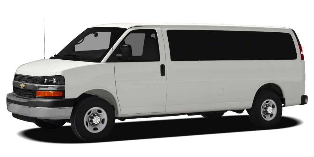 2012 Chevrolet Express 3500 LT CLEAN AUTOCHECK REPORT NO DAMAGE Dual front impact airbags Overhe