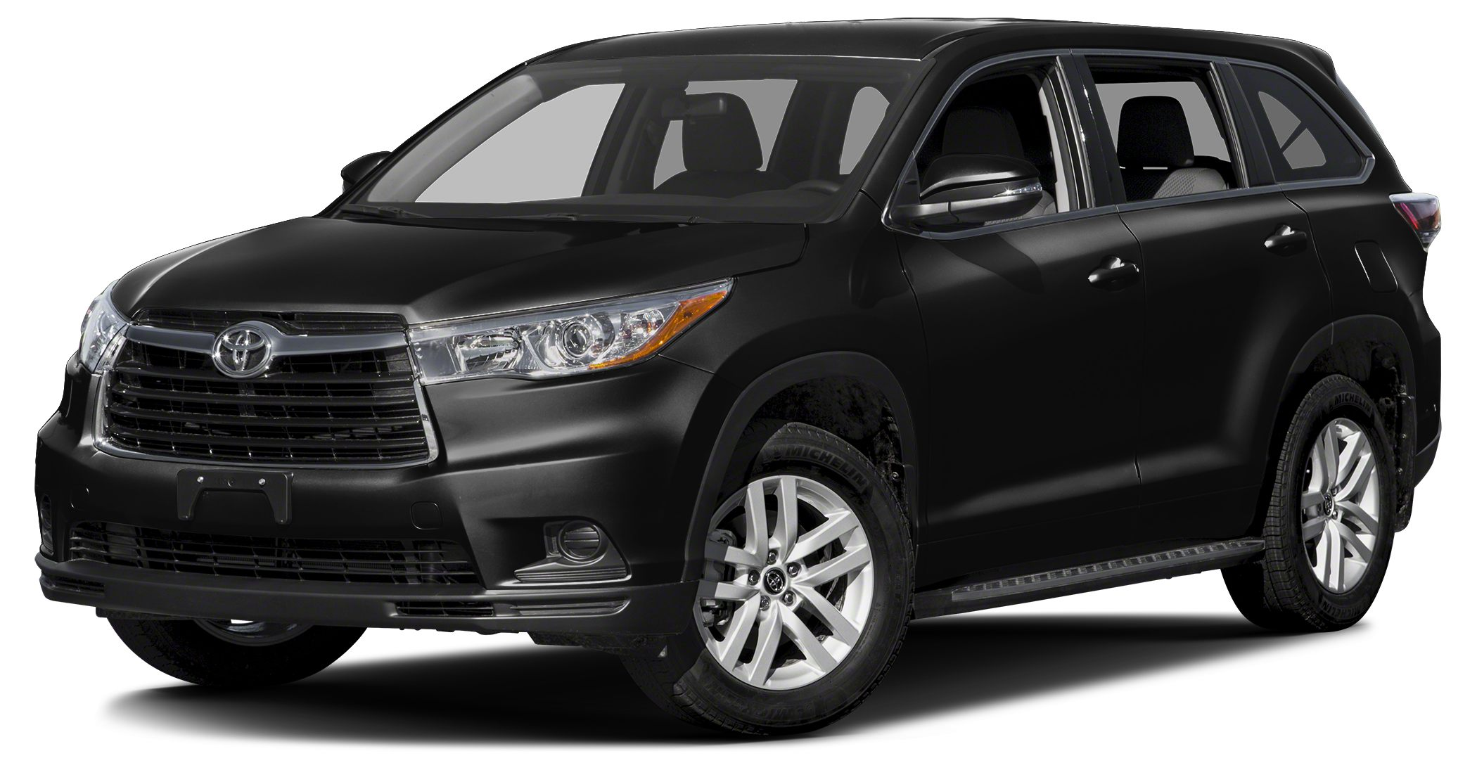 2016 Toyota Highlander LE MIDNIGHT BLACK METALLIC exterior and BLACK interior CARFAX 1-Owner FUE