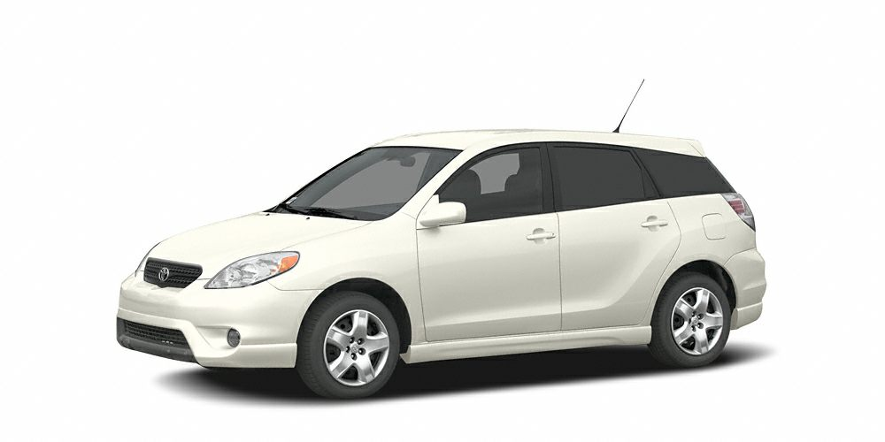 2005 Toyota Matrix Base EPA 34 MPG Hwy28 MPG City STD trim SUPER WHITE exterior and DARK CHARCO