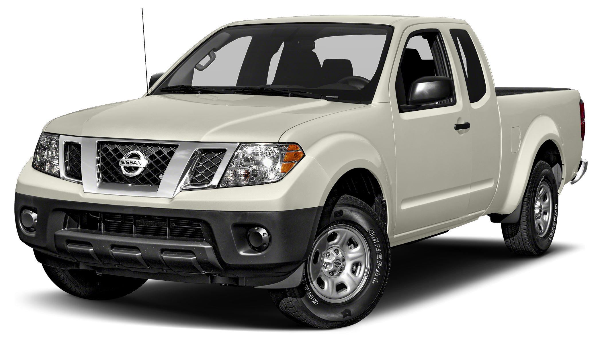 2015 Nissan Frontier S 5-Speed Automatic with Overdrive RWD Glacier White and Graphite wCloth