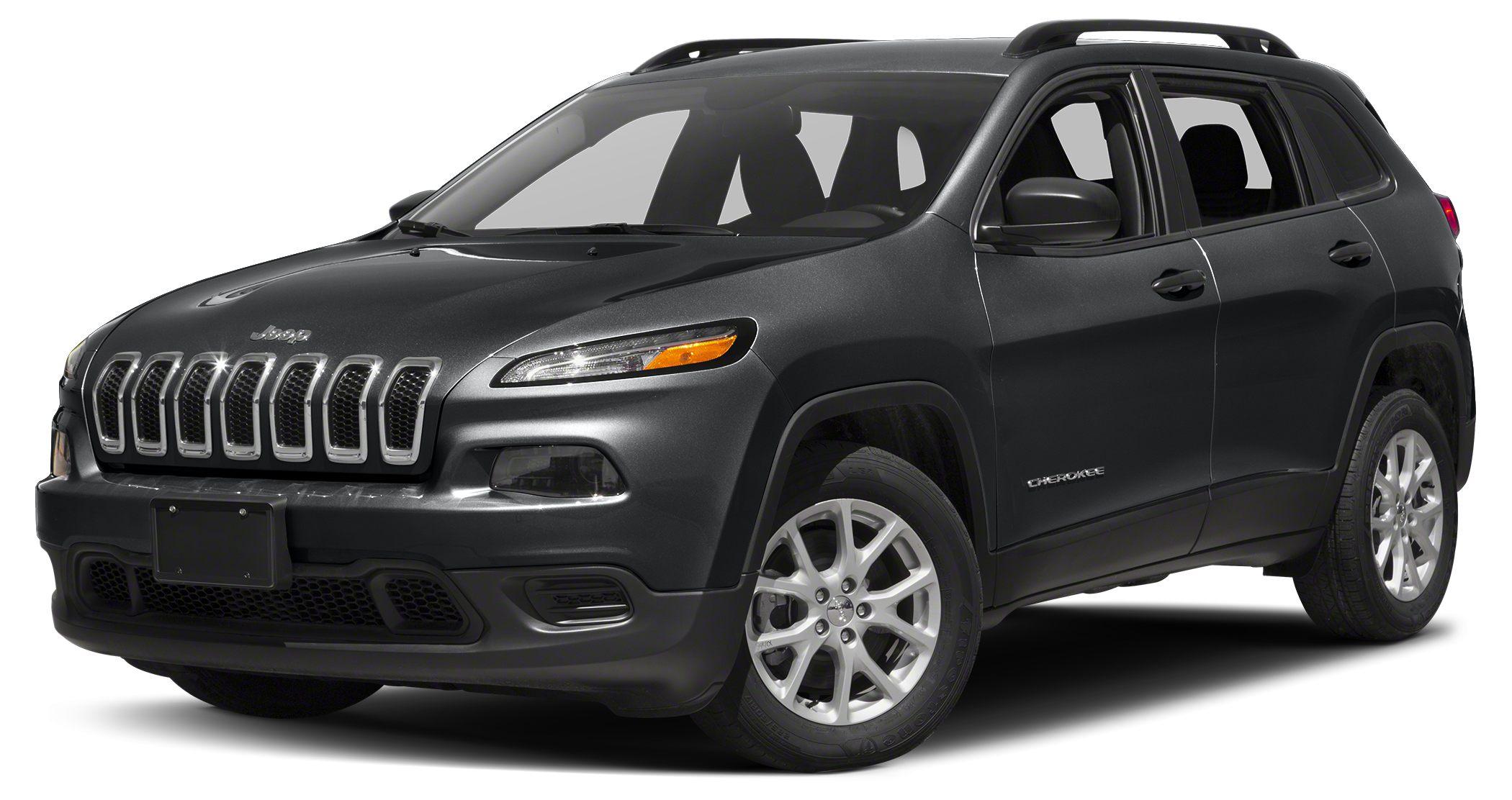2017 Jeep Cherokee Sport Altitude trim Granite Crystal Met Clear Coat exterior Bluetooth iPod