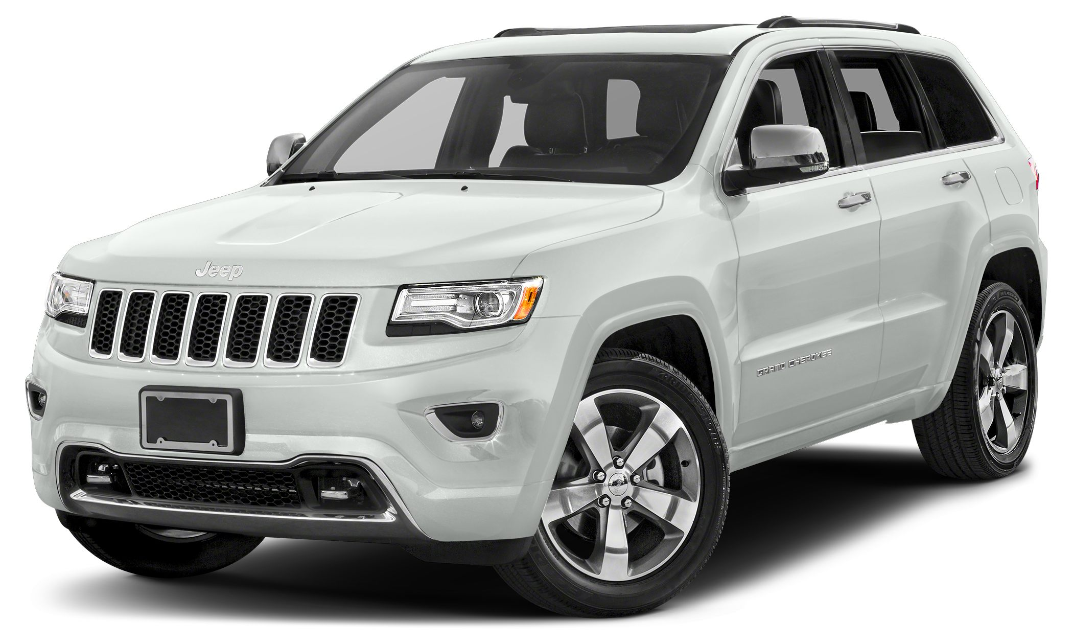 2015 Jeep Grand Cherokee Overland Miles 14379Color Bright White Clearcoat Stock 17A056A VIN