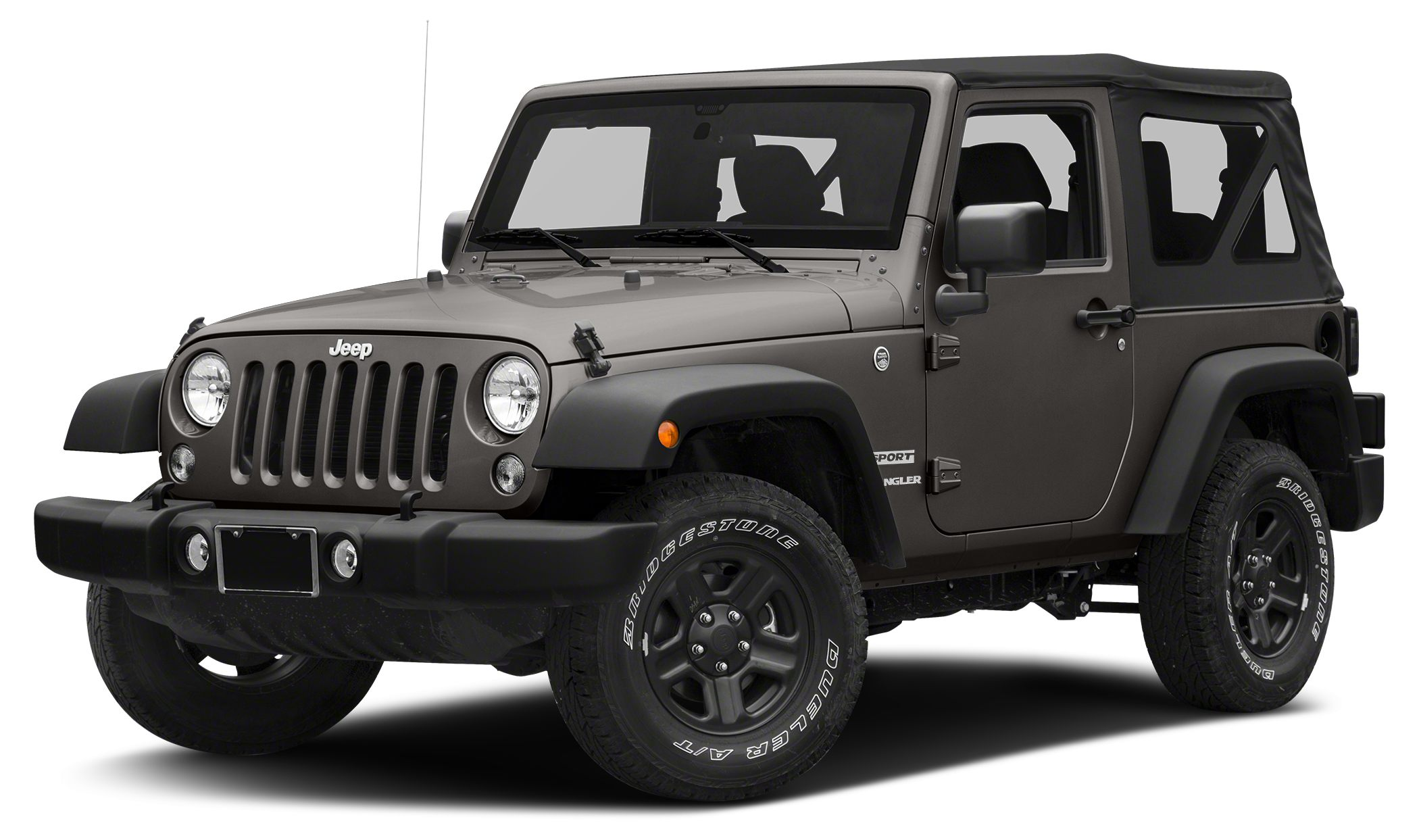 2017 Jeep Wrangler Sport Granite Crystal Metallic Clearcoat exterior and Black interior Sport tri