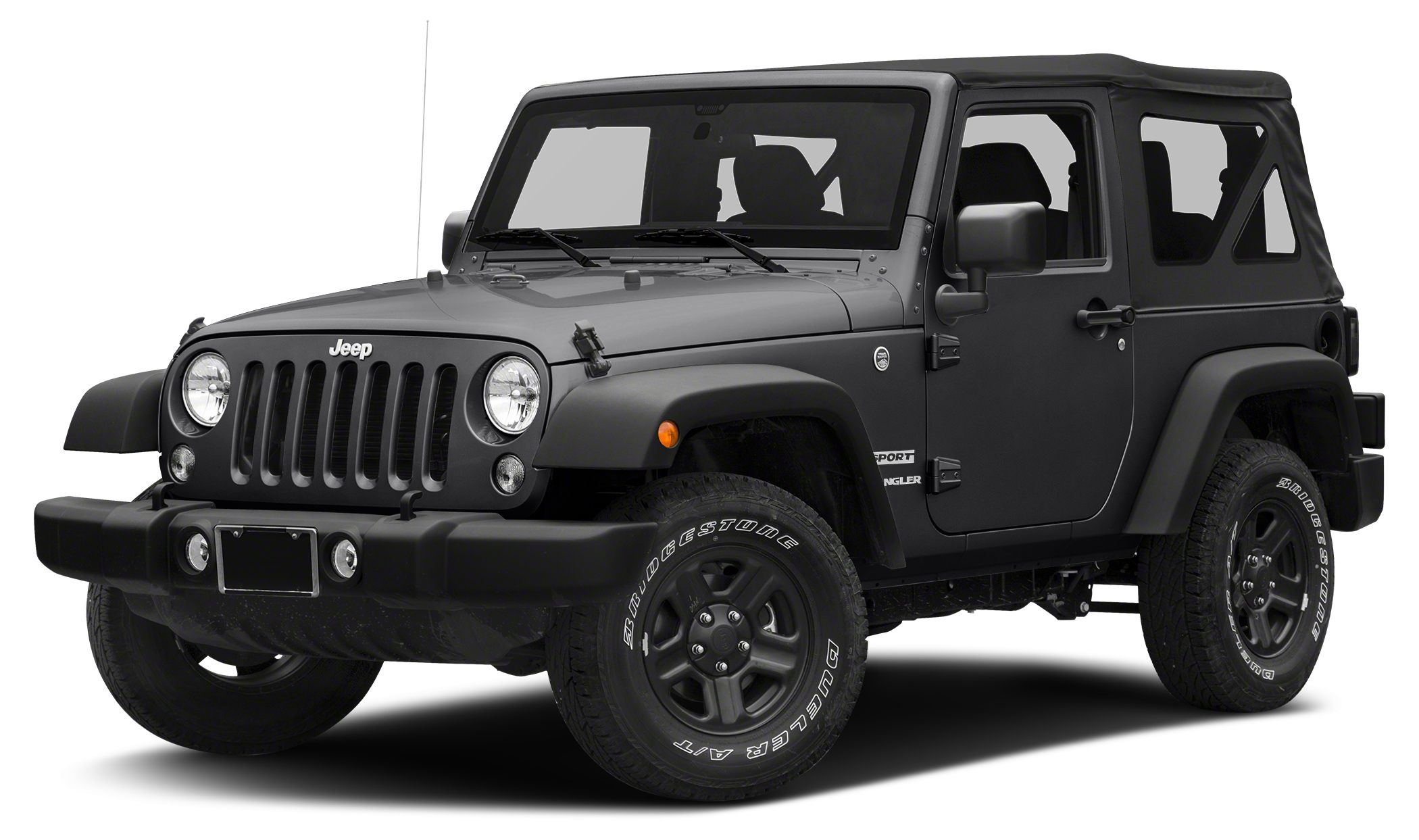 2014 Jeep Wrangler Sport Sport trim Anvil Clear Coat exterior and Black interior CARFAX 1-Owner