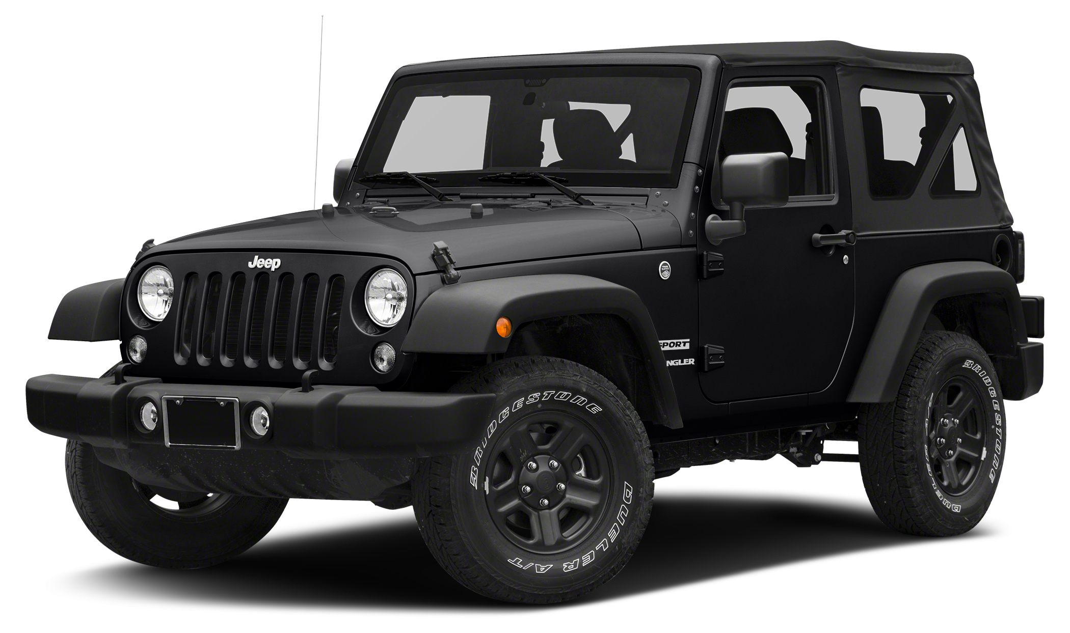 2016 Jeep Wrangler Sport Sport trim Black Clear Coat exterior QUICK ORDER PACKAGE 24B 4x4 SIRI