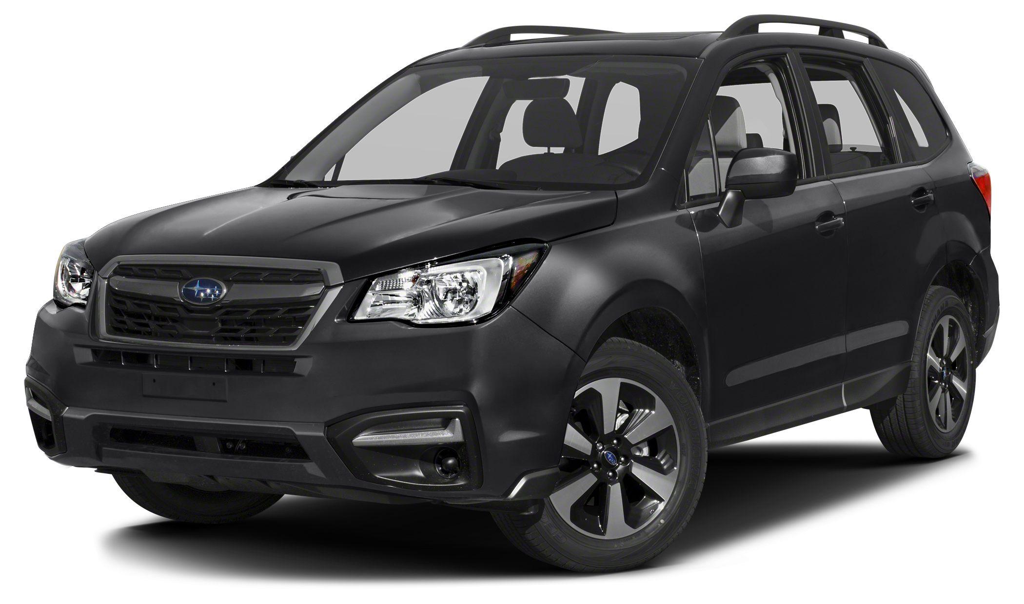 2017 Subaru Forester 25i Premium Miles 5Color Crystal Black Silica Stock SH554255 VIN JF2SJ