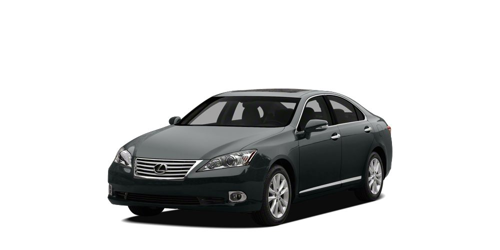 2012 Lexus ES 350 Base Navigation Nebula Gray on Black Heated Leather Bluetooth Moonroof Rev