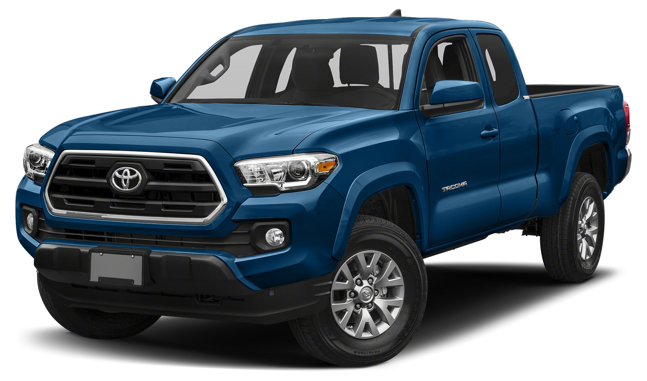 2016 Toyota Tacoma SR5 SR5 trim BLAZING BLUE PEARL exterior and CEMENT GRAY interior CARFAX 1-Ow