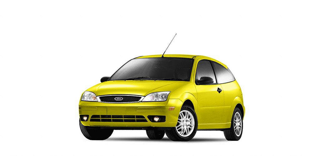 2005 Ford Focus ZX3 This Yellow 2005 Ford Focus ZX3 might be just the hatchback for you It has a