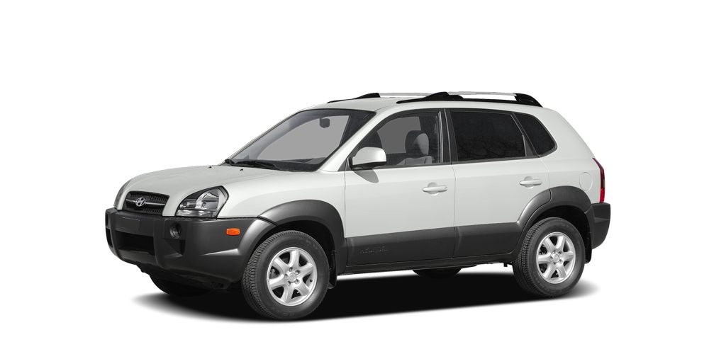 2008 Hyundai Tucson  Clean Carfax 4D Sport Utility 27L V6 DOHC 4-Speed Automatic with Overdriv