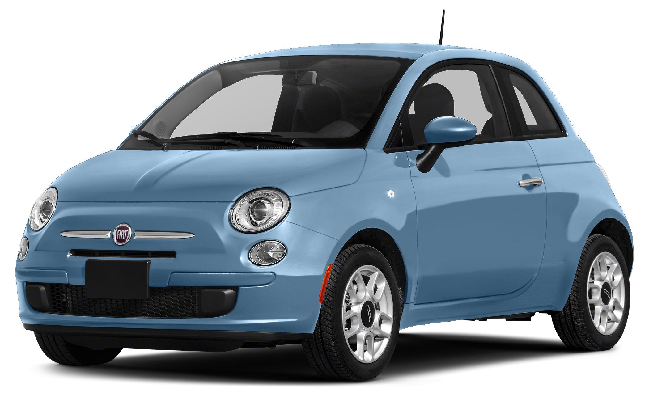 2015 FIAT 500 Lounge Miles 21464Color Celeste Blu Retro Light Blue Stock 6H7115C VIN 3C3CF