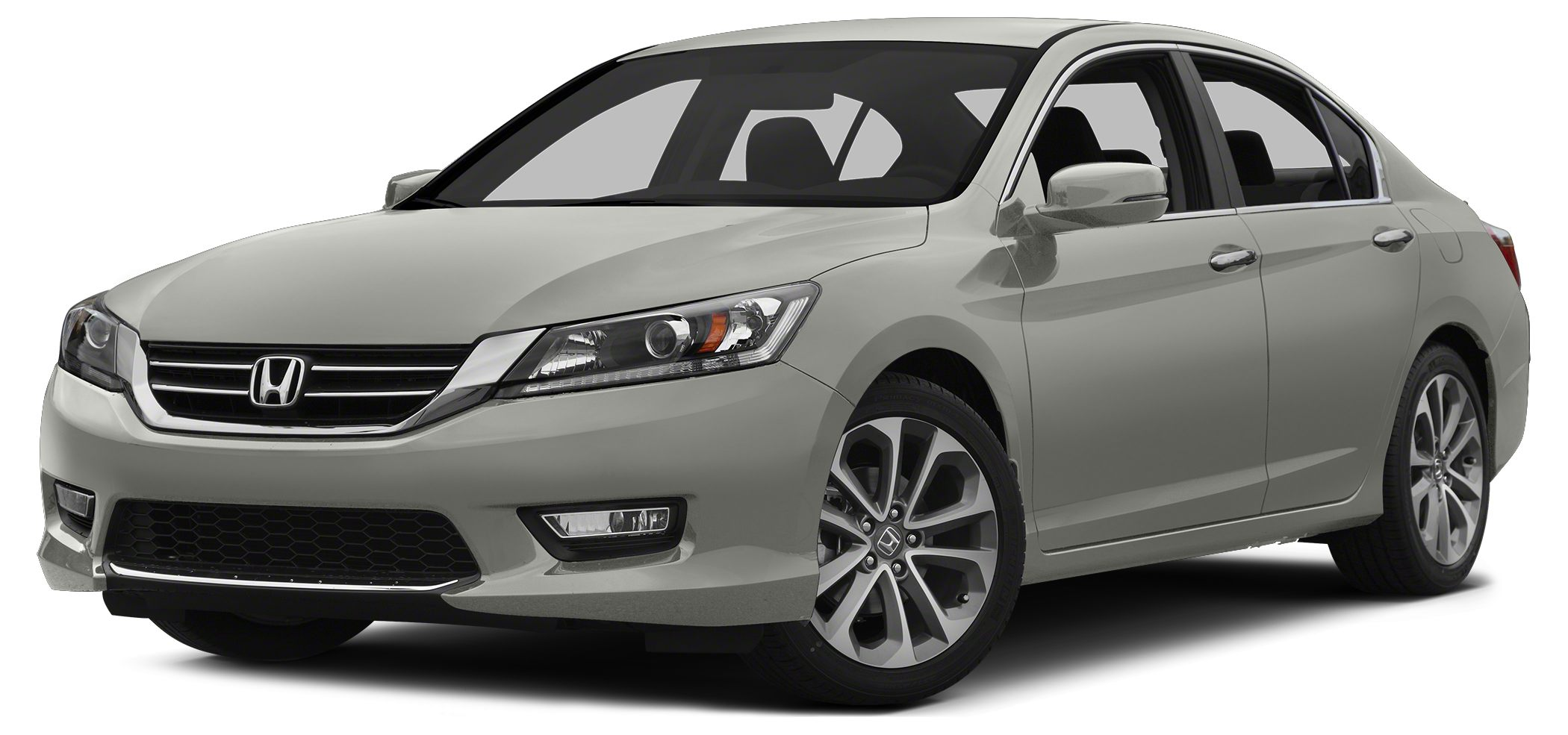2014 Honda Accord Sport EPA 34 MPG Hwy26 MPG City Alabaster Silver Metallic exterior and Black i