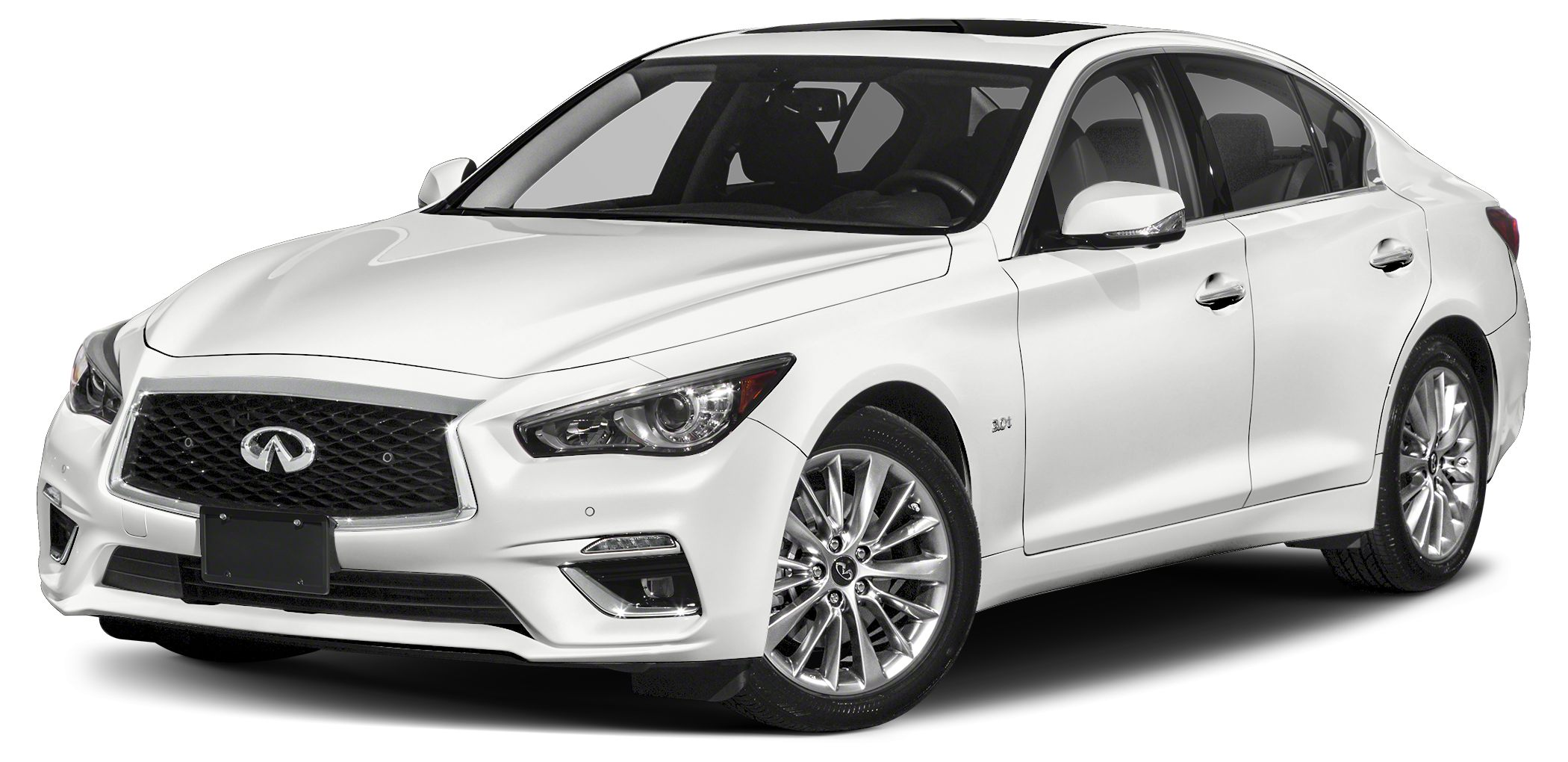 2018 INFINITI Q50 30T Luxe Optional equipment includes Illuminated Kick Plates Cargo Package L