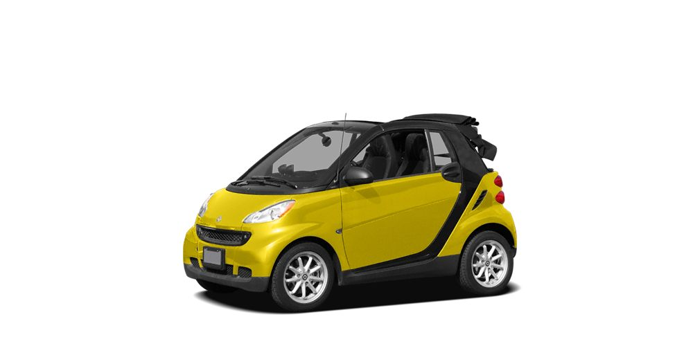 2008 smart fortwo passion Miles 91464Color Yellow Stock SB17820A VIN WMEEK31X08K156733