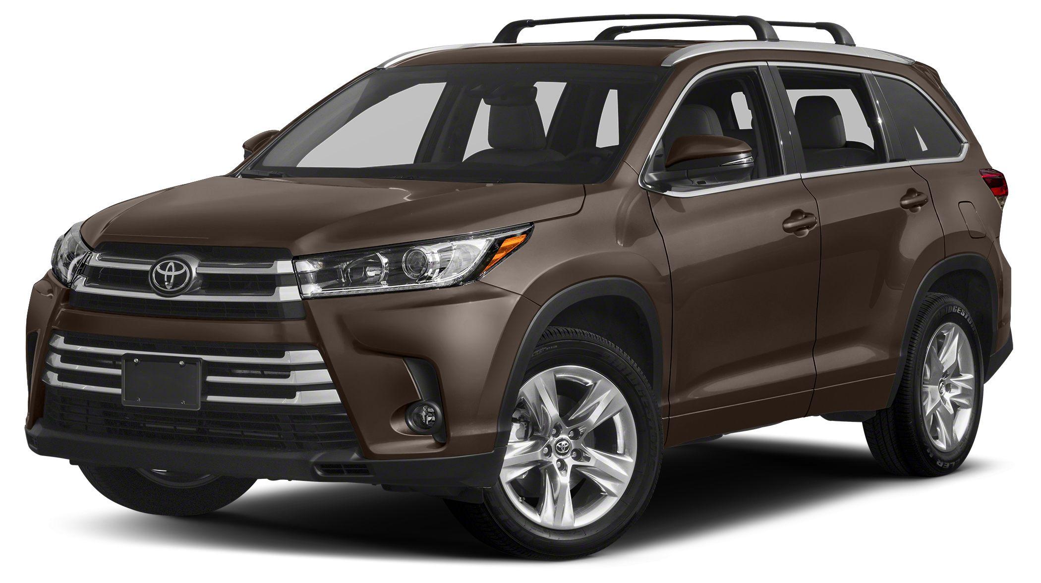 2018 Toyota Highlander Limited Platinum Heated Leather Seats Moonroof Nav System Third Row Seat