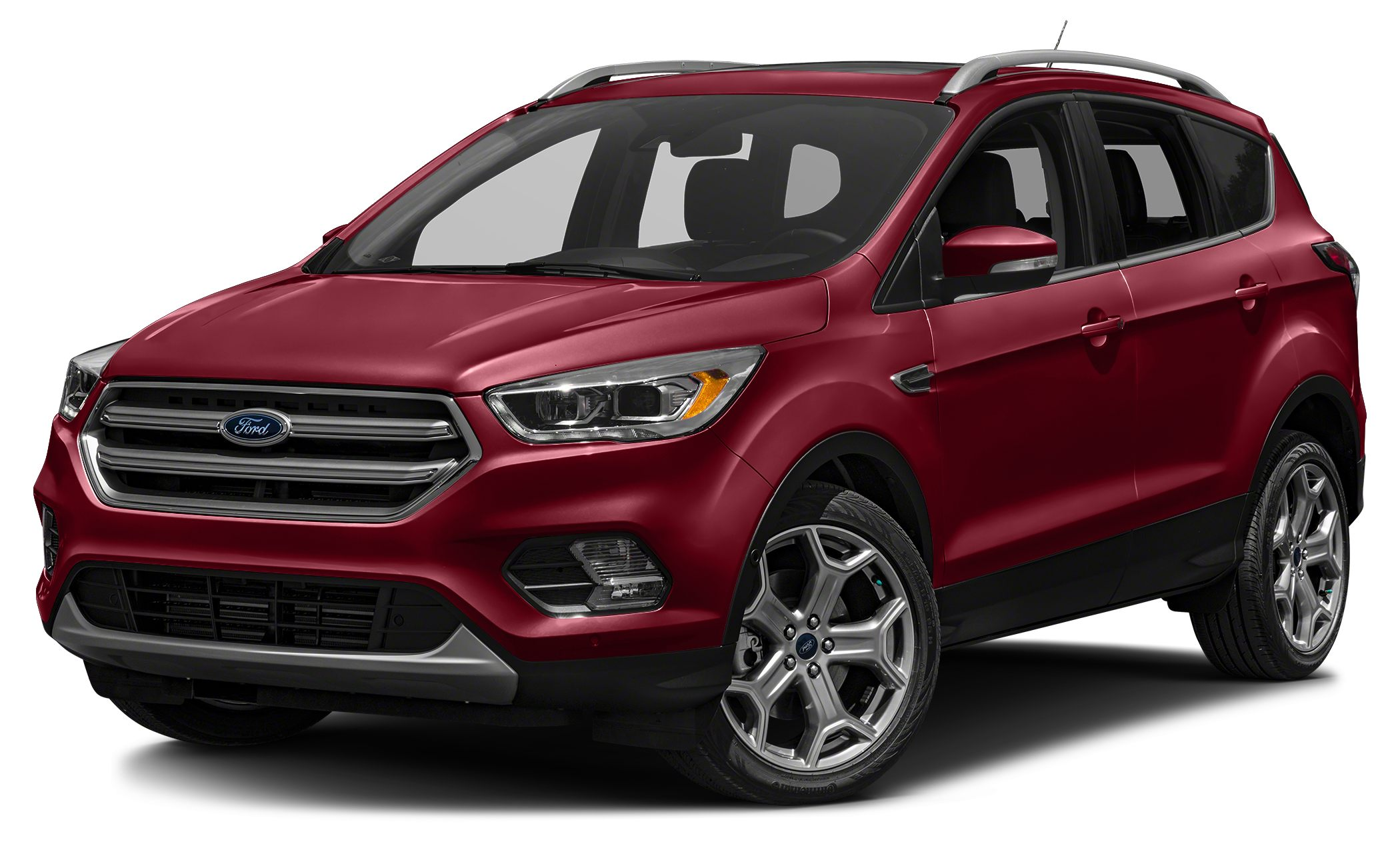 2017 Ford Escape Titanium Ruby Red Metallic 2017 Ford Escape Titanium 4WD 6-Speed Automatic EcoBoo