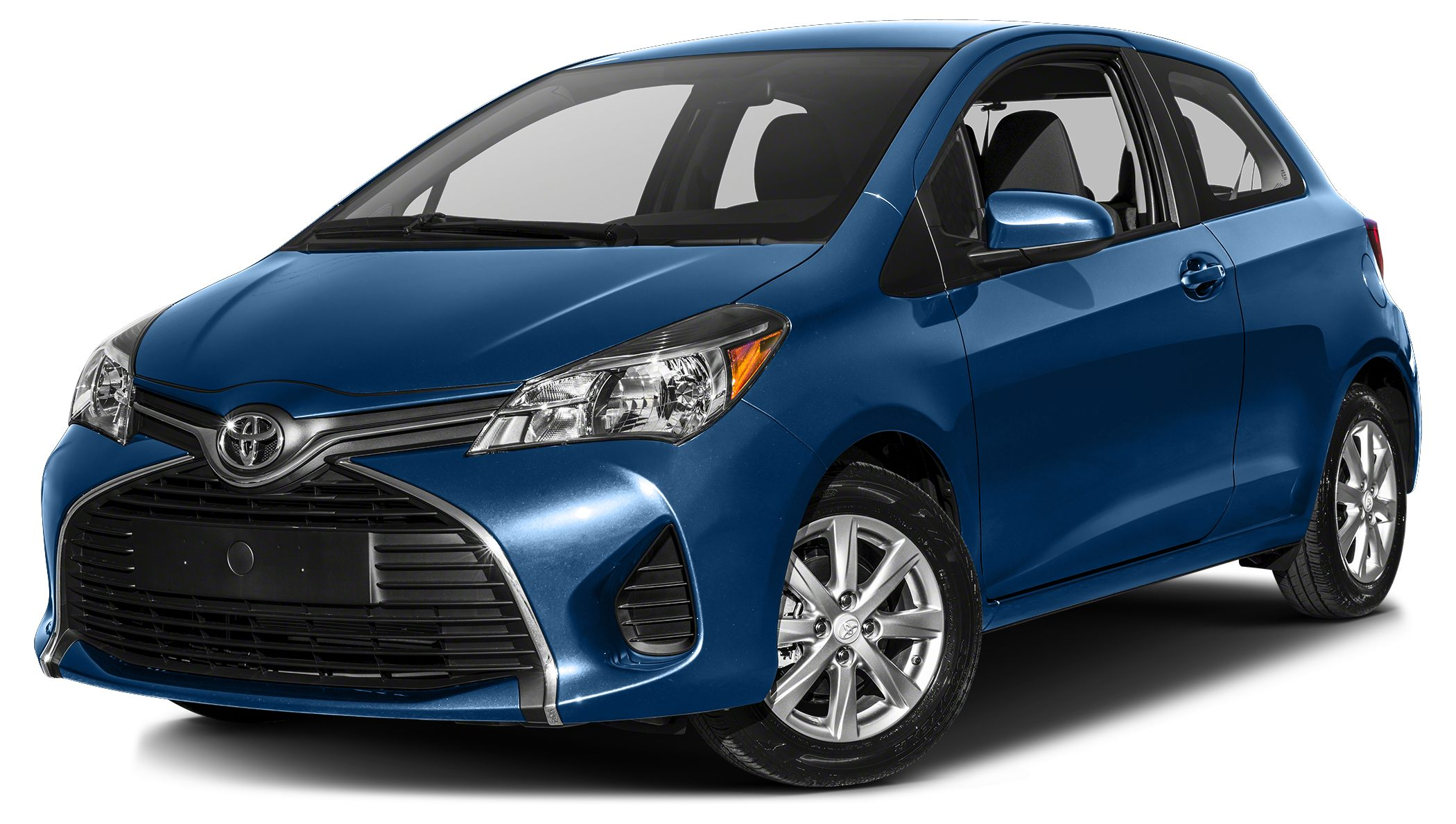 2017 Toyota Yaris LE BLUE STREAK METALLIC exterior and BLACKCIRCLES interior LE trim CD Player