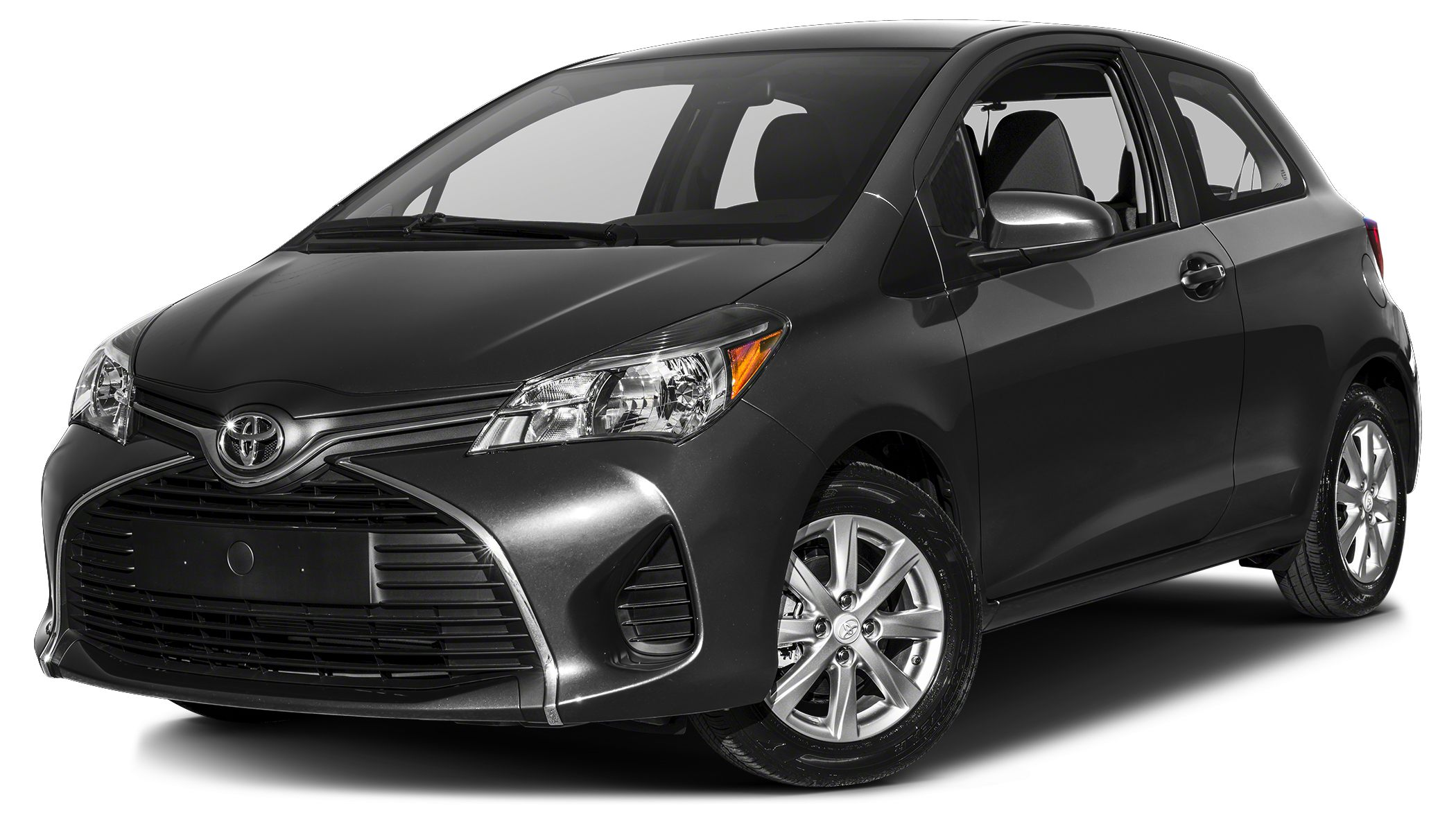2017 Toyota Yaris LE MAGNETIC GRAY METALLIC exterior and BLACKCIRCLES interior LE trim CD Playe