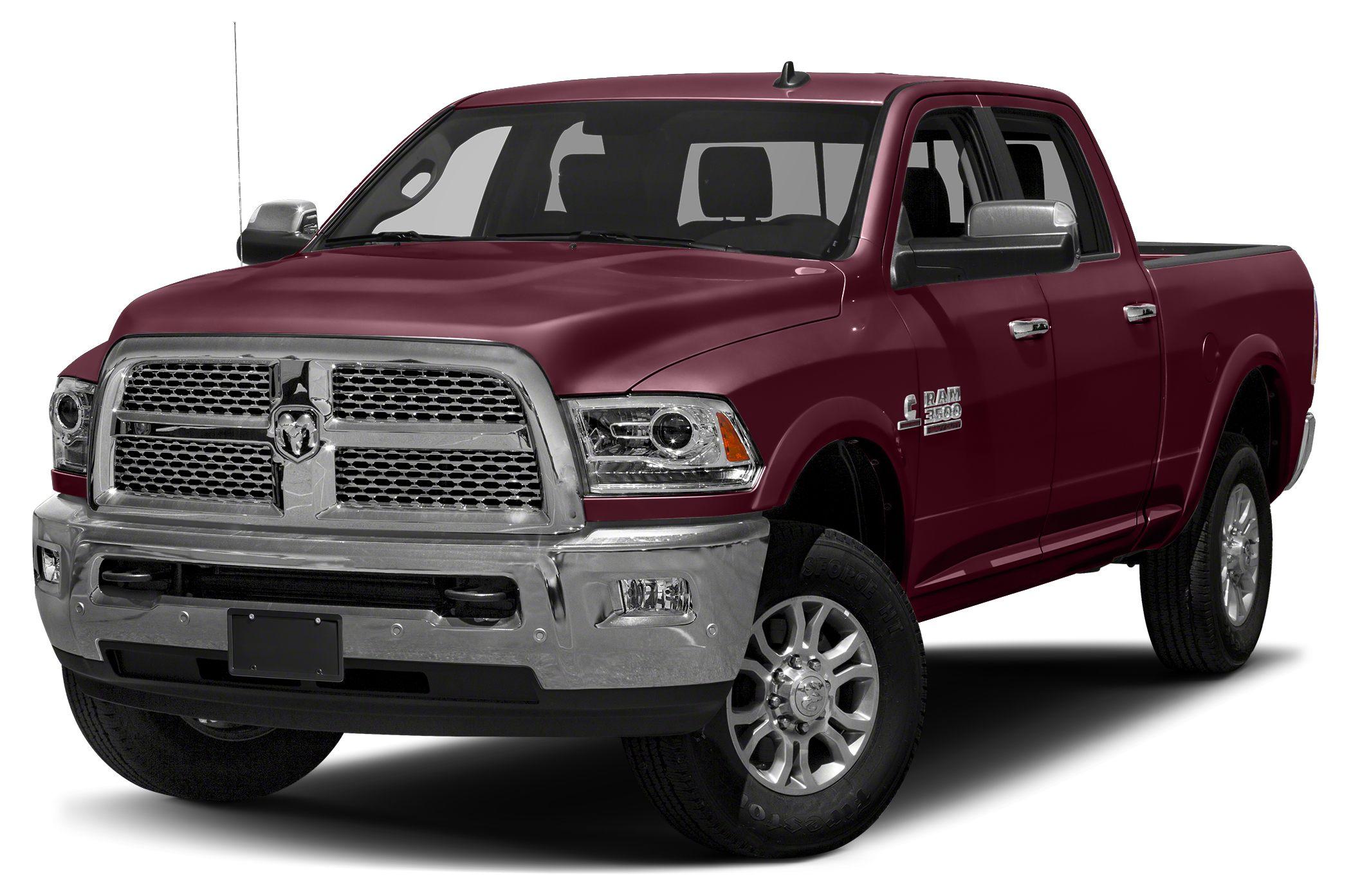 2017 RAM 3500 Laramie Longhorn HeatedCooled Leather Seats NAV Turbo Alloy Wheels Bed Liner 4