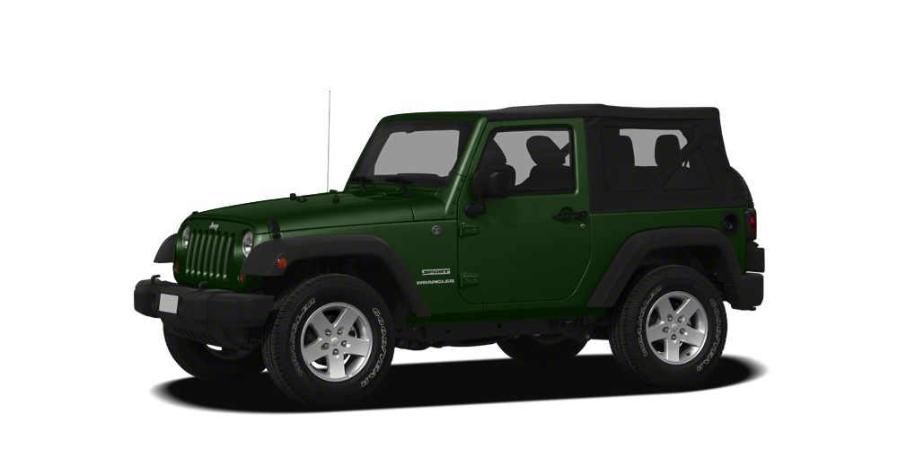 2011 Jeep Wrangler Sport Sport trim Natural Green Pearl Coat exterior 4x4 iPodMP3 Input CD Pl