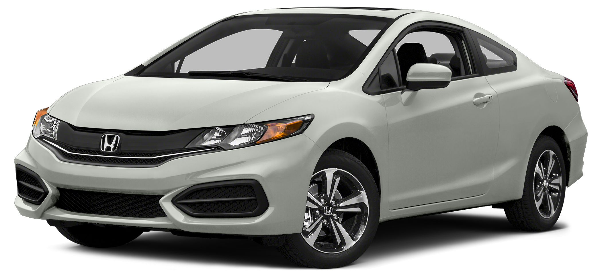 2014 Honda Civic EX Civic EX 2D Coupe CVT FWD Taffeta White and Gray Cloth Oh yeah You Win