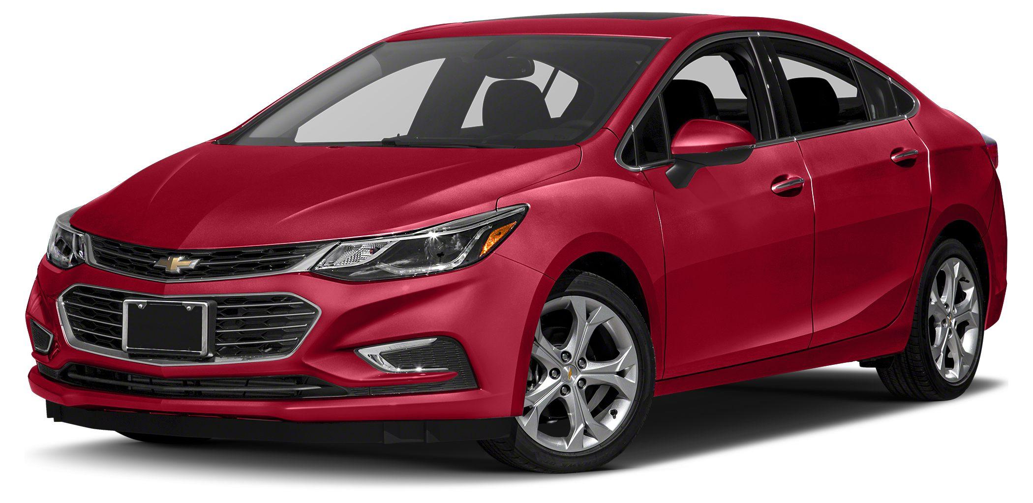 2016 Chevrolet Cruze LS LS trim RED HOT exterior and JET BLACK interior iPodMP3 Input Onboard
