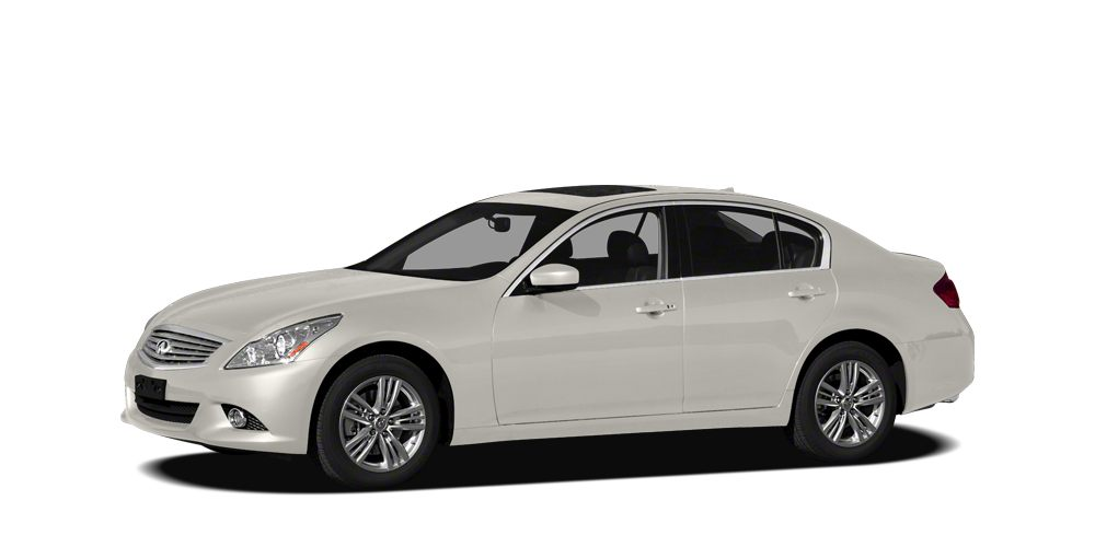 2012 INFINITI G25x Base AWD - Moonlight White on Stone Gray Leather interior with Bluetooth Sunro