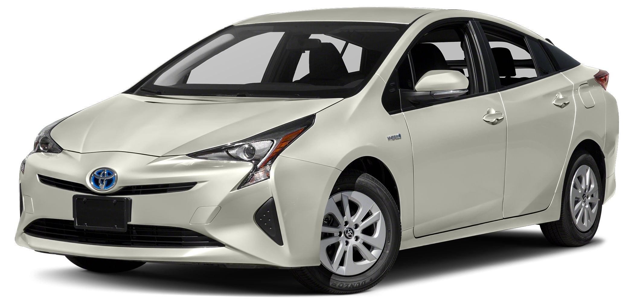 2017 Toyota Prius Two EPA 50 MPG Hwy54 MPG City BLIZZARD PEARL exterior and BLACK interior Two