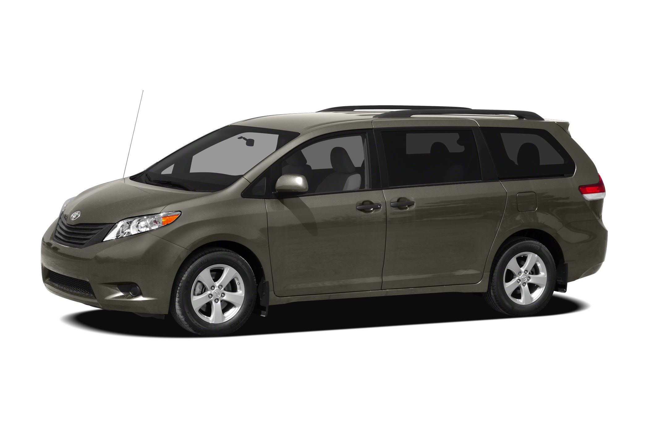 2012 Toyota Sienna LE 7 Passenger LOW MILES - 19331 BLACK exterior and LIGHT GRAY interior Thir