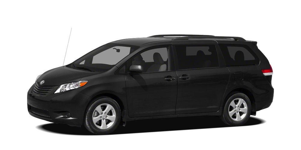 2012 Toyota Sienna LE 8 Passenger CARFAX One Owner Clean CARFAX and New Tires Jet Black Exiting