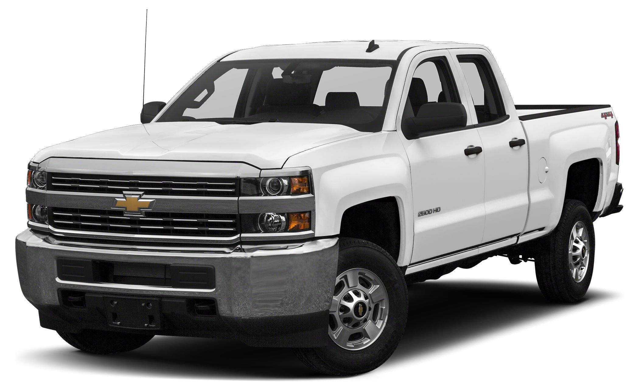 2015 Chevrolet Silverado 2500HD LT Summit White exterior and Cloth Jet Black Interior Trim inter