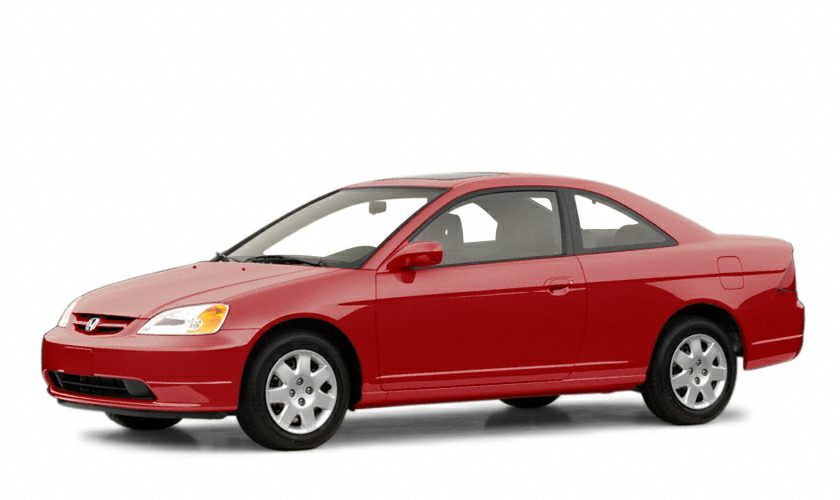2001 Honda Civic EX Miles 132521Color Red Stock T15534A VIN 1HGEM229X1L058068