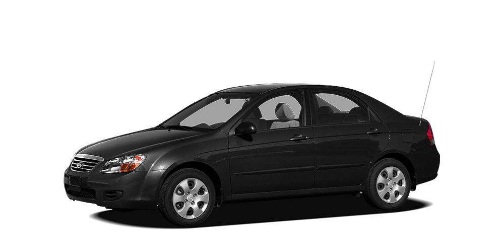 2008 Kia Spectra EX Miles 106749Color Black Stock 8709 VIN KNAFE121285538332
