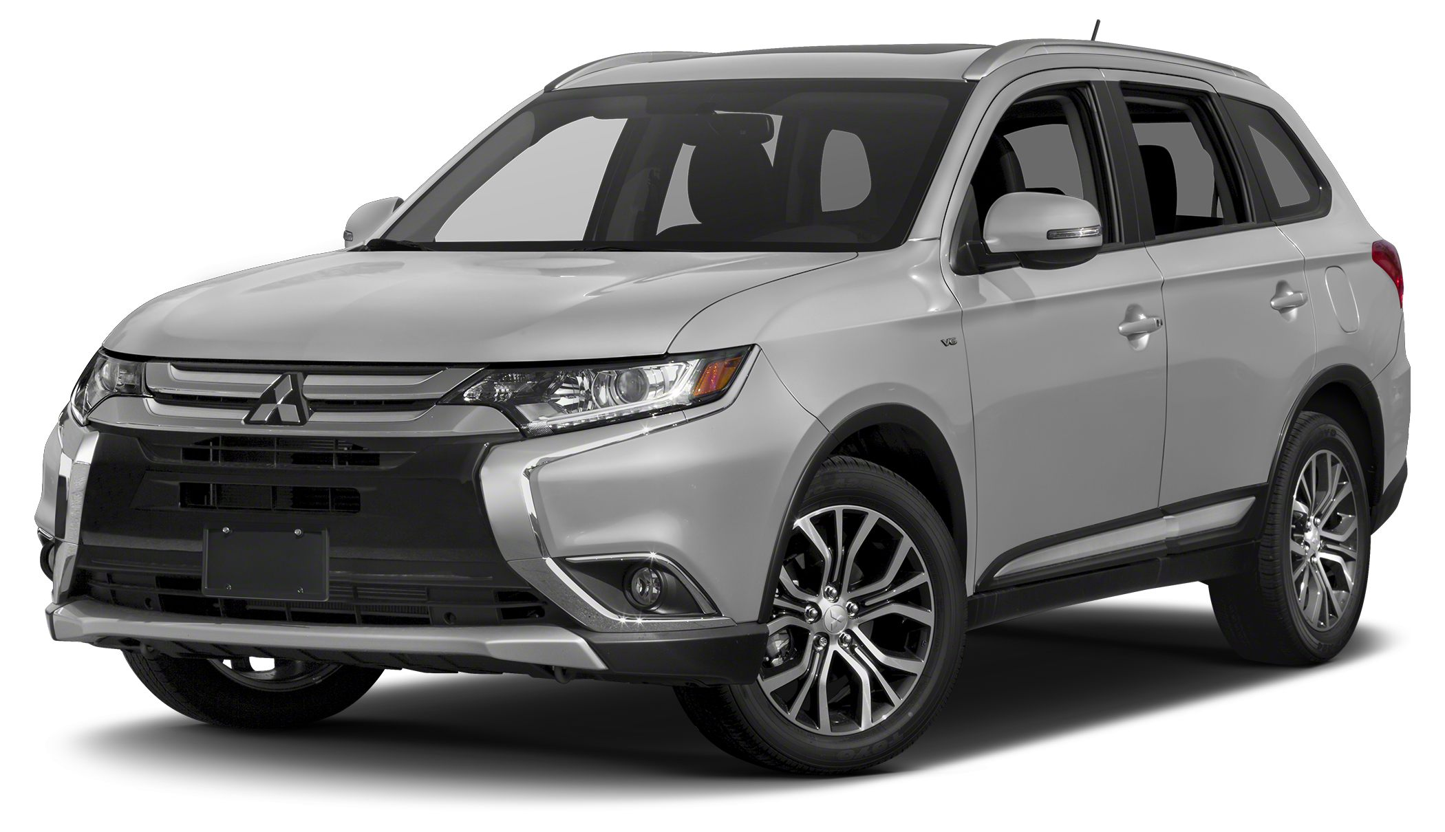 2017 Mitsubishi Outlander SE The Mitsubishi Outlander with a tough upper front grille in a new li