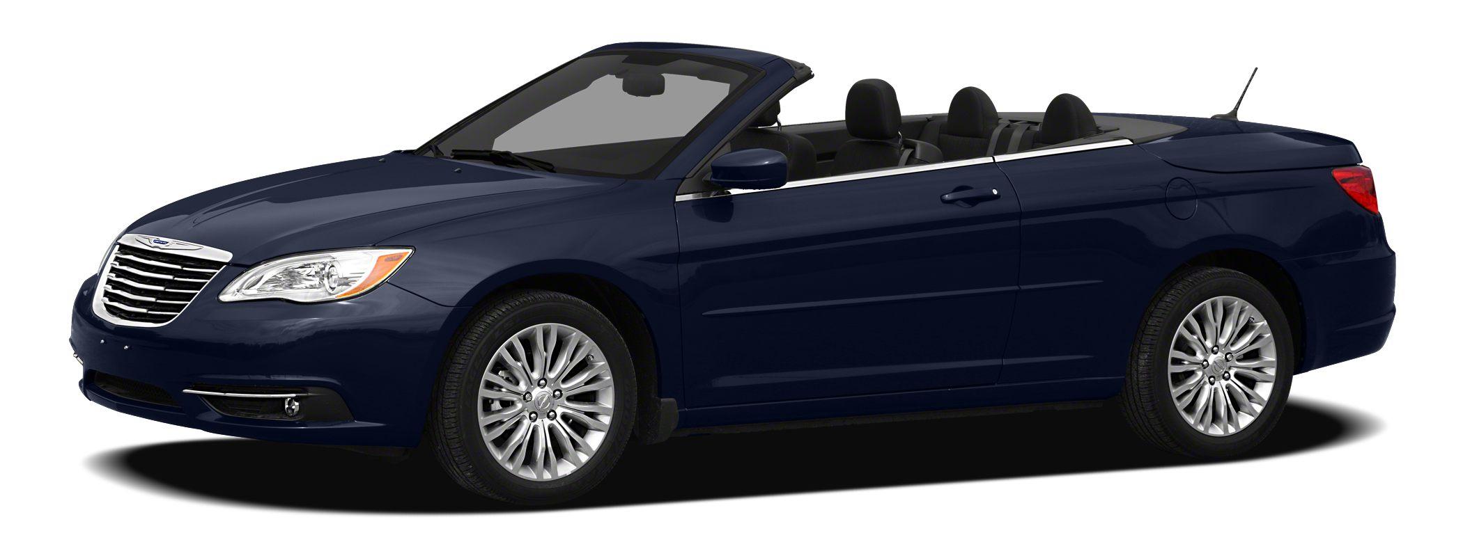 2011 Chrysler 200 Touring Touring trim EPA 29 MPG Hwy18 MPG City Satellite Radio iPodMP3 Inpu