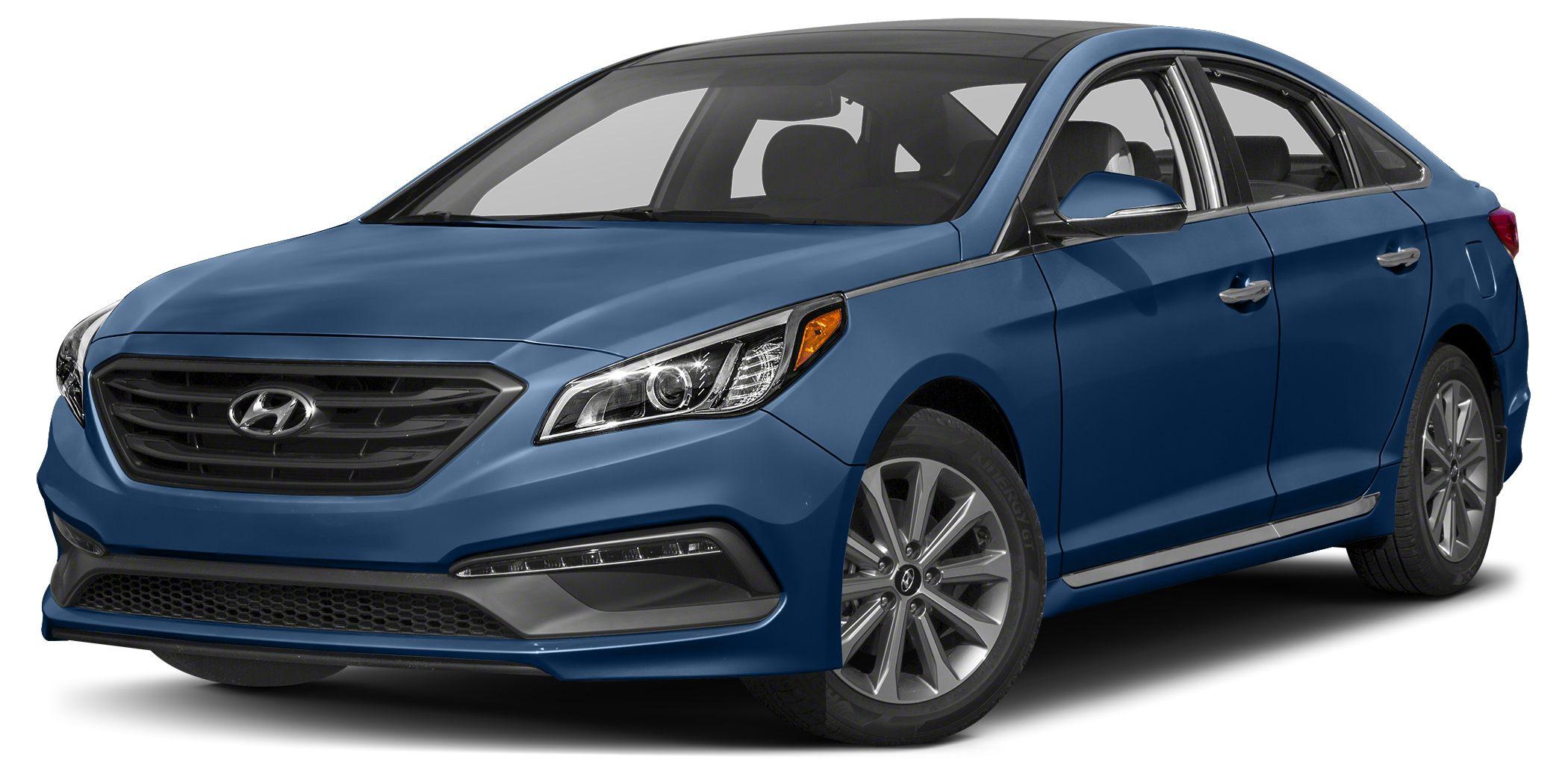 2016 Hyundai Sonata Limited Bluetooth Miles 11Color Lakeside Blue Stock 14649 VIN 5NPE34AF6