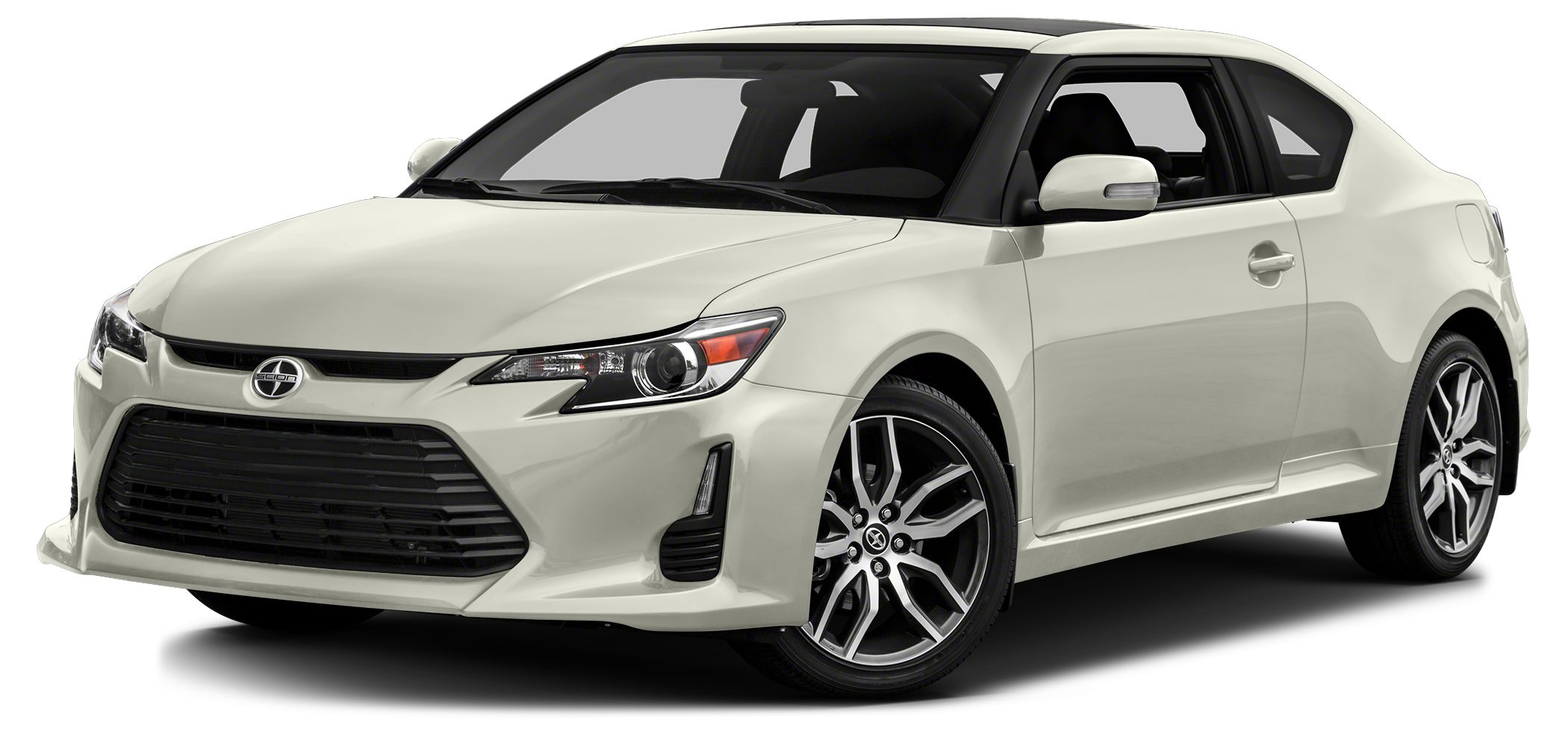 2015 Scion tC Base CARFAX 1-Owner tC trim BLIZZARD PEARL exterior and DARK CHARCOAL interior FU