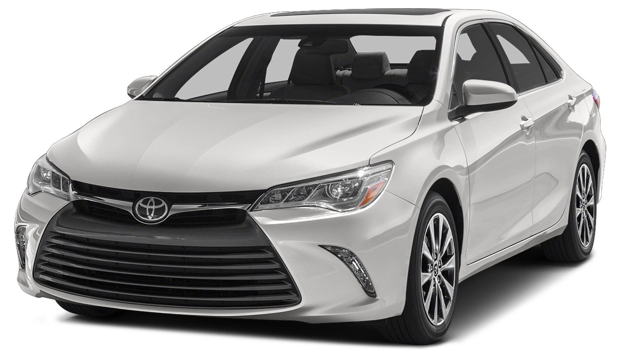 2015 Toyota Camry LE LE trim SUPER WHITE exterior and BLACK interior CARFAX 1-Owner ONLY 37393