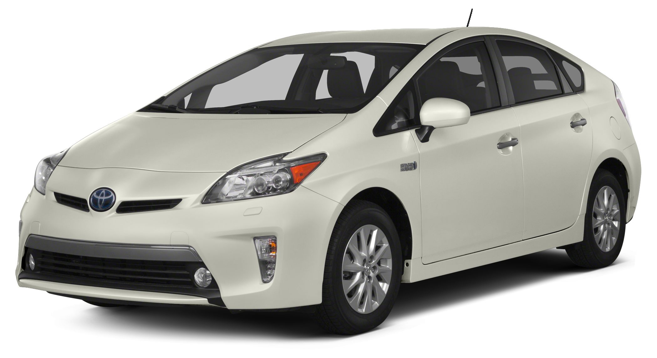 2012 Toyota Prius Plug-in Base BLIZZARD PEARL exterior and DARK GRAY interior FUEL EFFICIENT 49 M