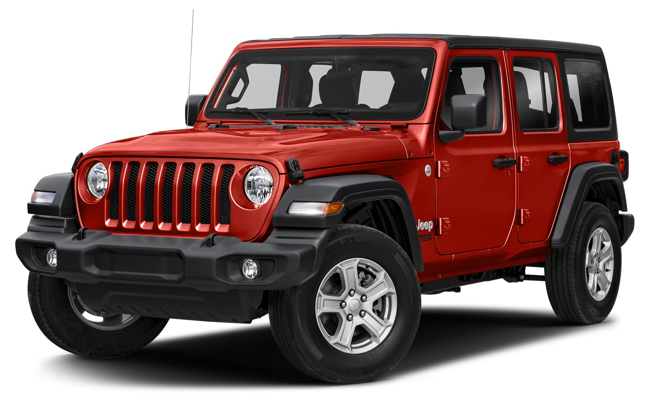 2018 Jeep Wrangler Unlimited Sahara Miles 5Color Firecracker Red Clearcoat Stock 80503 VIN 1
