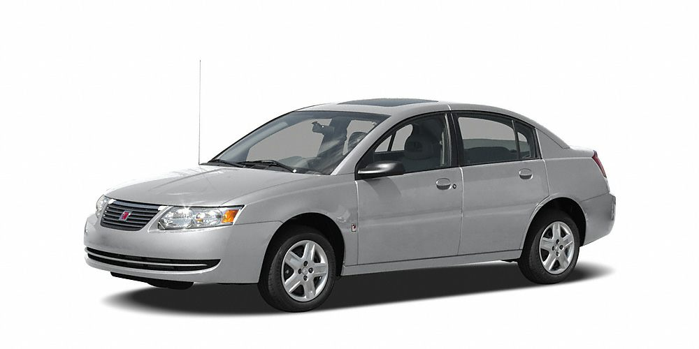 2005 Saturn ION 1 4D Sedan ECOTEC 22L I4 SMPI DOHC Hydra-Matic 4-Speed Automatic and Silver W